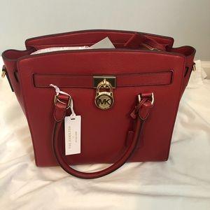 MICHAEL KORS red Hamilton bag